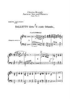 Antiche danze et arie per liuto. Suite No.1: Harpsichord part by Ottorino Respighi