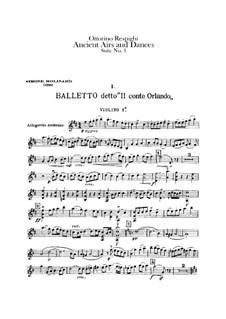 Antiche danze et arie per liuto. Suite No.1: Violin I part by Ottorino Respighi