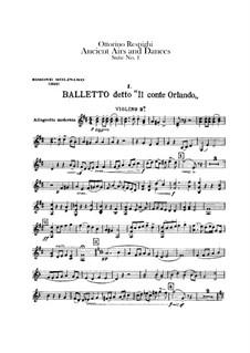 Antiche danze et arie per liuto. Suite No.1: Violin II part by Ottorino Respighi
