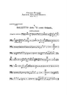 Antiche danze et arie per liuto. Suite No.1: Double bass part by Ottorino Respighi