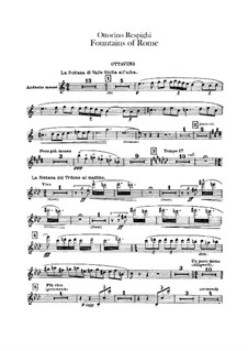 Fontane di Roma (Fountains of Rome): Flute piccolo part by Ottorino Respighi