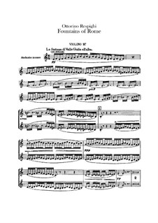 Fontane di Roma (Fountains of Rome): Violin II part by Ottorino Respighi