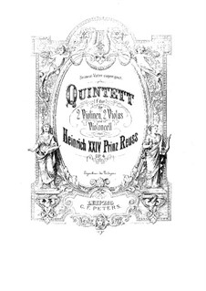 String Quintet in F Major, Op.4: String Quintet in F Major by Prinz Heinrich Reuss