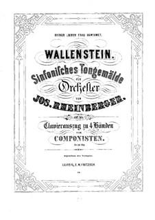 Wallenstein, Op.10: For piano four hands by Josef Gabriel Rheinberger