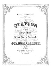 Piano Quartet in E Flat Major, Op.38: Piano Quartet in E Flat Major by Josef Gabriel Rheinberger