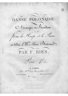 Danse Polonaise for Harp and Piano: Danse Polonaise for Harp and Piano by Ferdinand Ries