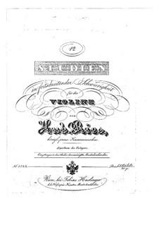 Twelve Etudes for Violin: Twelve Etudes for Violin by Hubert Ries