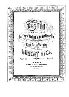 Three String Trios, Op.24: Trio No.1 in C Major by Hubert Ries