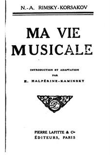 Chronicle of My Musical Life: Complete Book by Nikolai Rimsky-Korsakov