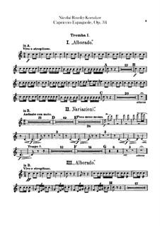 Capriccio Espagnol, Op.34: Trumpets parts by Nikolai Rimsky-Korsakov