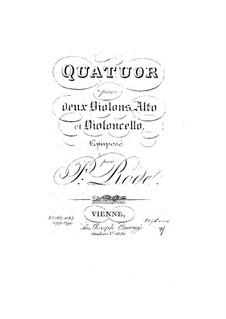 String Quartet in D Major, Op.13: String Quartet in D Major by Pierre Rode
