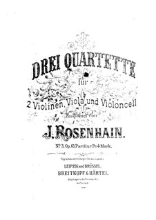 String Quartet No.3, Op.65: String Quartet No.3 by Jacob Rosenhain