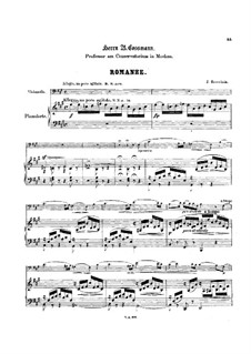 Romance for Cello and Piano: Score by Jacob Rosenhain