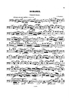 Romance for Cello and Piano: Solo part by Jacob Rosenhain