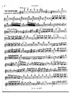 Eduardo e Cristina: Overture – flutes parts by Gioacchino Rossini