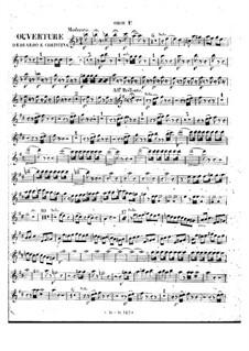 Eduardo e Cristina: Overture – oboes parts by Gioacchino Rossini