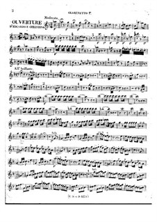 Eduardo e Cristina: Overture – clarinets parts by Gioacchino Rossini