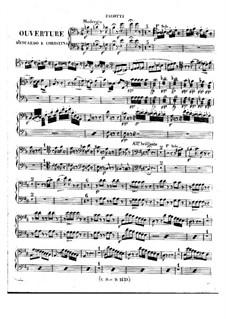 Eduardo e Cristina: Overture – bassoons parts by Gioacchino Rossini