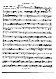 Eduardo e Cristina: Overture – trumpets parts by Gioacchino Rossini
