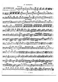 Eduardo e Cristina: Overture – trombones parts by Gioacchino Rossini