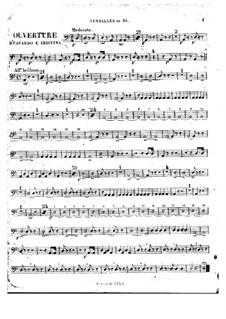 Eduardo e Cristina: Overture – percussion parts by Gioacchino Rossini