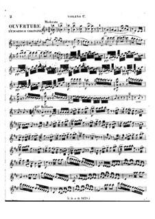 Eduardo e Cristina: Overture – violin I part by Gioacchino Rossini