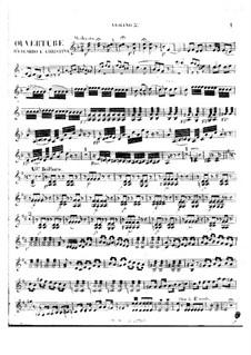 Eduardo e Cristina: Overture – violin II part by Gioacchino Rossini