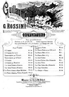 Overture: For violin and piano by Gioacchino Rossini