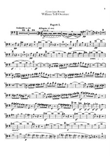 Overture: Bassoons parts by Gioacchino Rossini
