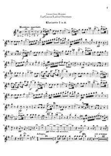 La gazza ladra (The Thieving Magpie): Overture – clarinets parts by Gioacchino Rossini