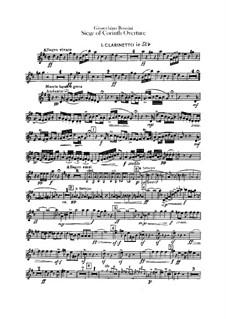 Le siège de Corinthe (The Siege of Corinth): Overture – clarinets parts by Gioacchino Rossini