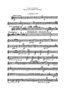 Le siège de Corinthe (The Siege of Corinth): Overture – trumpets parts by Gioacchino Rossini