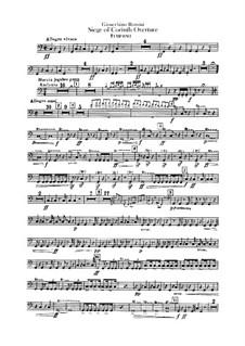 Le siège de Corinthe (The Siege of Corinth): Overture – percussion parts by Gioacchino Rossini