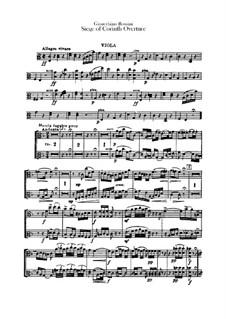 Le siège de Corinthe (The Siege of Corinth): Overture – viola part by Gioacchino Rossini