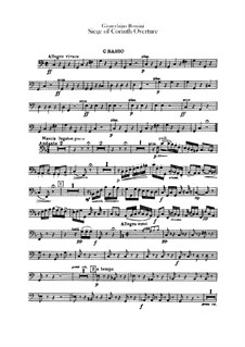 Le siège de Corinthe (The Siege of Corinth): Overture – double bass part by Gioacchino Rossini