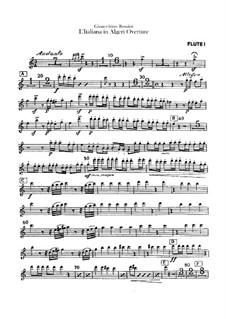 L'italiana in Algeri (The Italian Girl in Algiers): Overture – flutes parts by Gioacchino Rossini