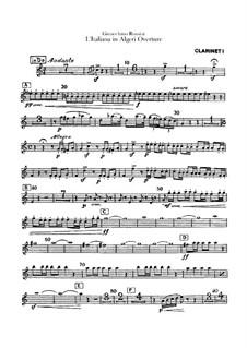 L'italiana in Algeri (The Italian Girl in Algiers): Overture – clarinets parts by Gioacchino Rossini