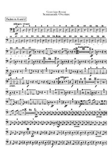 Semiramide: Overture – timpani and bass drum parts by Gioacchino Rossini