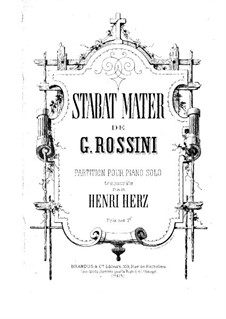 Stabat Mater: For piano by Gioacchino Rossini