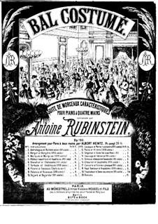 Bal costumé, Op.103: For piano by Anton Rubinstein