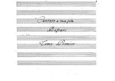 Cantatas for Voice and Basso Continuo: Volume I by Giovanni Battista Bassani