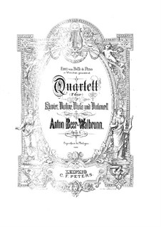 Quartet for Strings and Piano in F Major, Op.8: Quartet for Strings and Piano in F Major by Anton Beer-Walbrunn