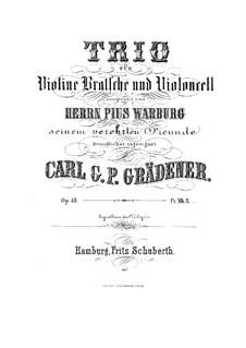String Trio in G Minor, Op.48: Full score, parts by Carl Georg Peter Grädener