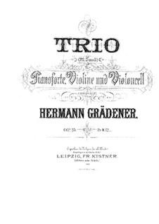 Piano Trio No.2, Op.25: Piano Trio No.2 by Hermann Grädener
