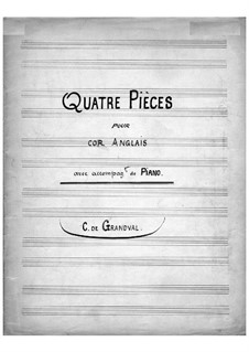 Four Pieces for Cor Anglais and Piano: Score by Marie Grandval