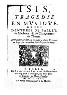 Isis, LWV 54: Libretto by Jean-Baptiste Lully