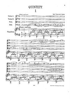 Piano Quintet in D Major, Op.16: Full score and parts by Karel Navratil