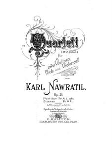 String Quartet No.2 in D Minor, Op.21: Parts by Karel Navratil