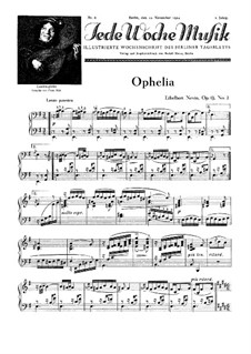 Water Scenes, Op.13: No.2 Ophelia by Ethelbert Woodbridge Nevin