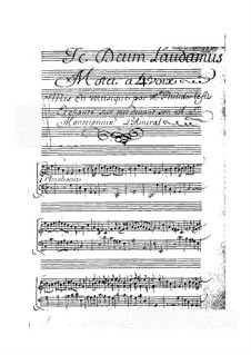 Te Deum laudamus: Te Deum laudamus by Anne Danican Philidor